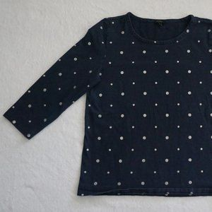 Navy Blue with Silver Dots - Talbots